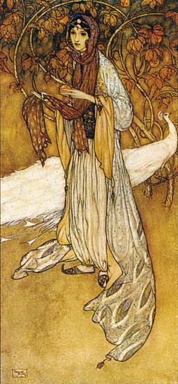 Princess Scheherazade, Edmund Dulac (8X17.25)