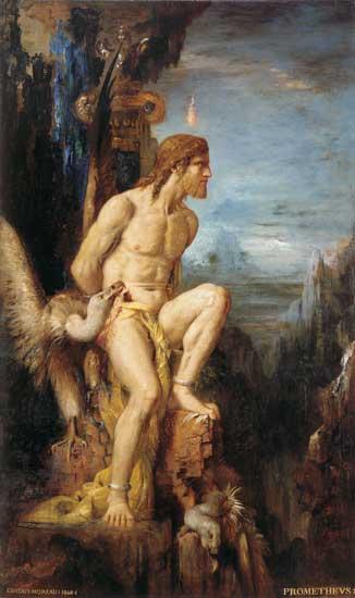 Prometheus, Gustave Morea  , Gustave Moreau