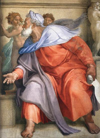 The Prophet Ezekiel, Michaelangelo (18X28.75)