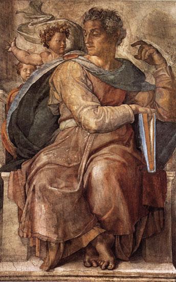 The Prophet Isaiah, Michaelangelo (18X28.75)