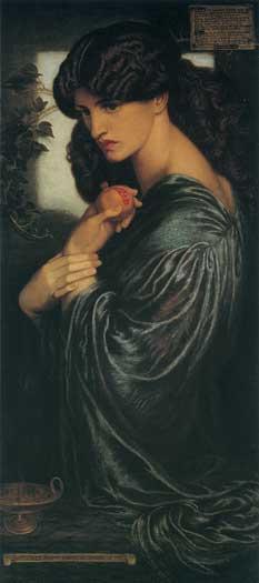 Proserpine, Rossetti (16X36)