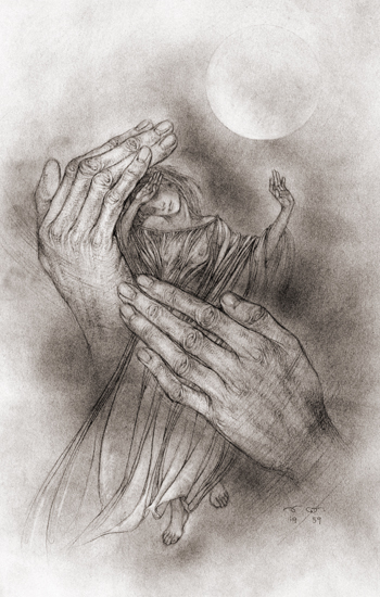 The Protective Spirit, Sulamith Wulfing (14x22)