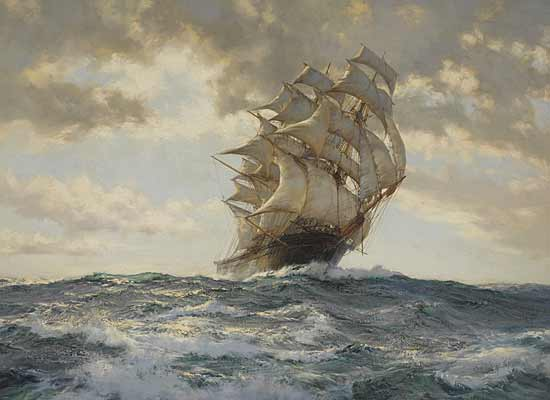 Proud Ship,  Montague Dawson