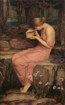 Psyche Opening the Box, Waterhouse (16X25.5)