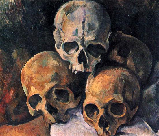 Pyramid of Skulls, Paul Cezanne (18X21)