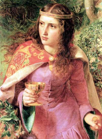 Queen Eleanor of Aquitaine, Fredric Sandys (16.2X22)