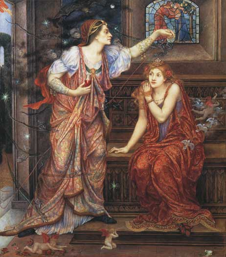 Queen Eleanor and Fair Rosamund, deMorgan (22X25)