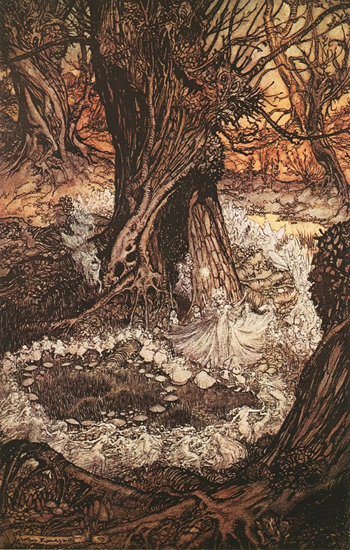 Come now a Roundal, Arthur Rackham, 12x18,5