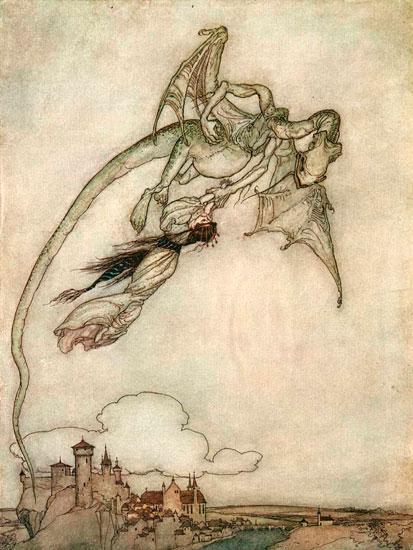 Dragon, Arthur  Rackham (12X16)