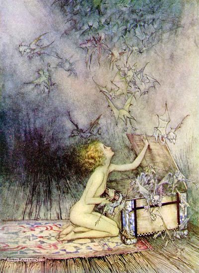 Pandora, Arthur  Rackham, 12X16.5