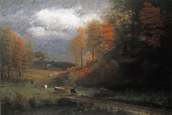 Rainy Day in Autumn, Albert Bierstadt (24X36)