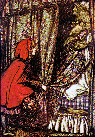 Little Red Riding Hood, Arthur  Rackham (12X17.3)