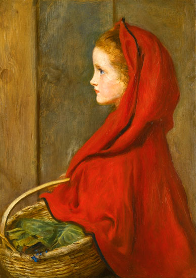 Little Red Ridinghood, Millais (16X25.75