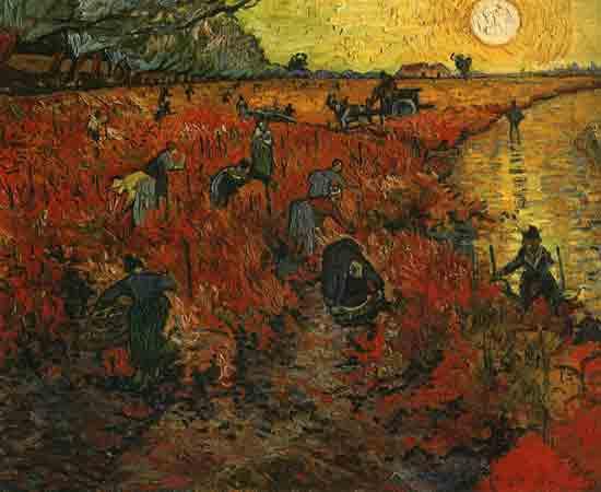 The Red Vineyard, Vincent van Gogh (18X22)
