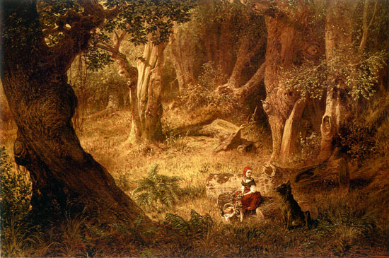 Little Red Riding Hood, Richard Hermann Eschke (14.5X22)