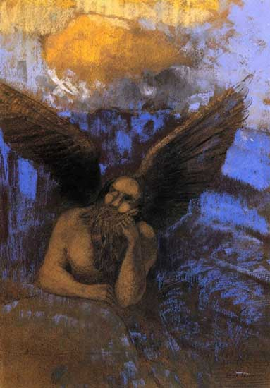 Aged Angel, Redon (16X22)
