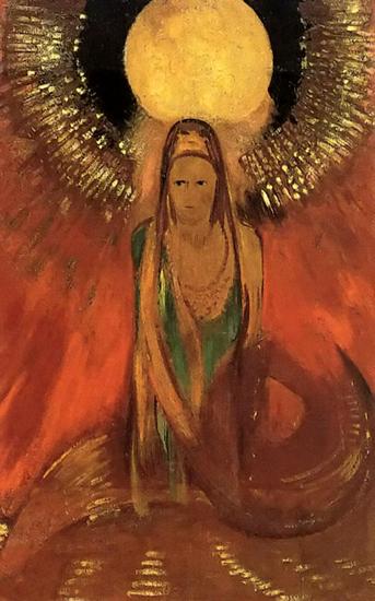 Flame,Goddess of Fire, Odilon Redon