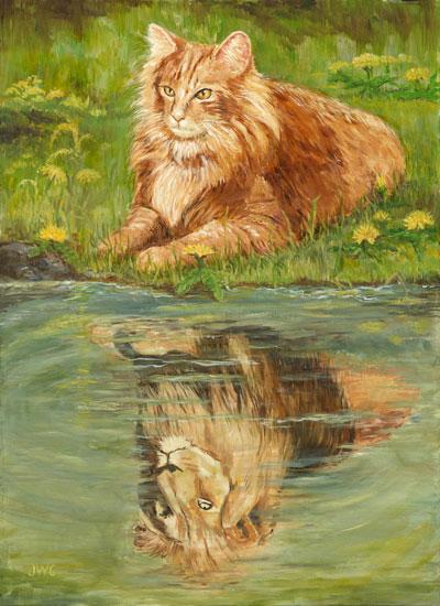 Reflecting, Joyce Gibson (16X22)