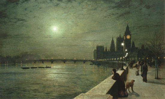 Reflections on the Thames, Grimshaw (24X40)