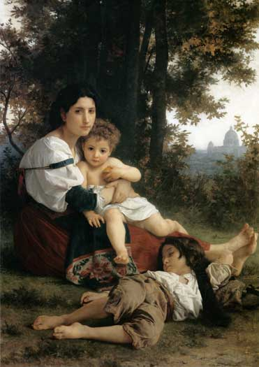 Rest,  William-Adolphe Bouguereau