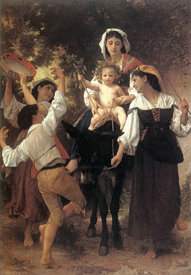 Return from the Harvest, William Bouguereau