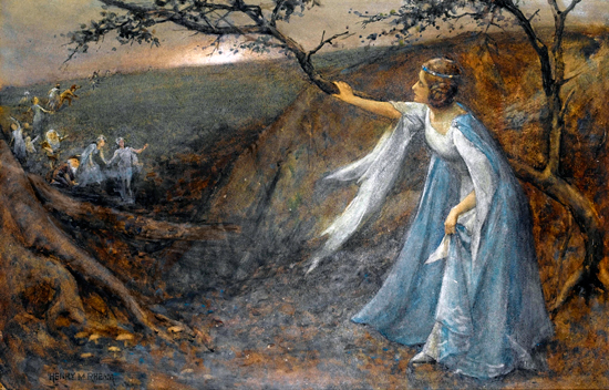 Titiana Welcoming Her Fairy Bretheren, Henry Meynell Rheam