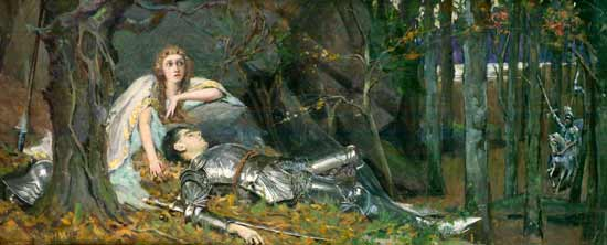 The-Lady of Shalott, Rheam (14X34)