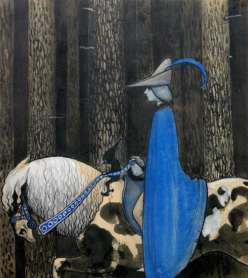 Rider in a Blue Cape, Bauer