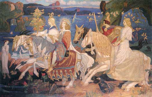The Riders of the SidheJ, ohn Duncan (16x25)