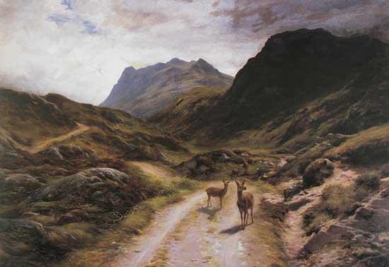 Road to Loch Maree, Joseph Farquharson (22X33)