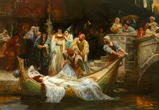 The Lady of Shalott G E Robertson (18x26)