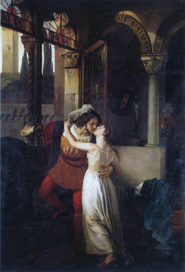 Romeo and Juliet, Hayez (16X23.5)