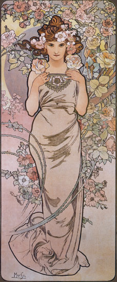 Rose, Alphonse Mucha (14X34)