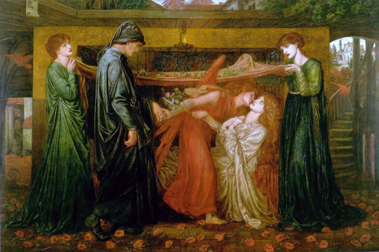 Dante's Dream at the Time of the Death of Beatrice,Dante Gabriel Rossetti (16x24.5)