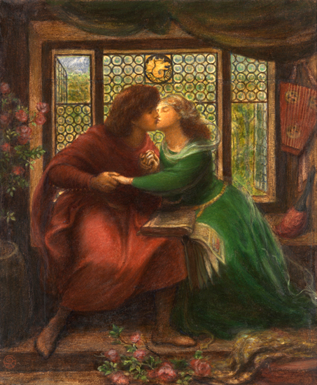 Paolo and Francesca, Rossetti (22X26.8)