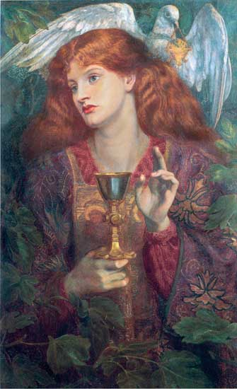 The Holy Grail, Rossetti (16X26)