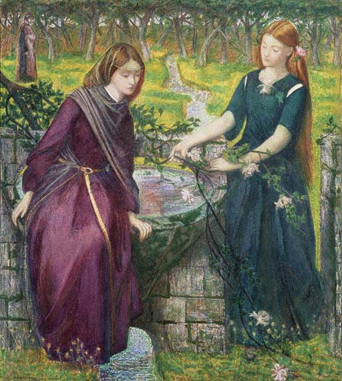 Dante's Vision of Rachel and Leah, Rossetti