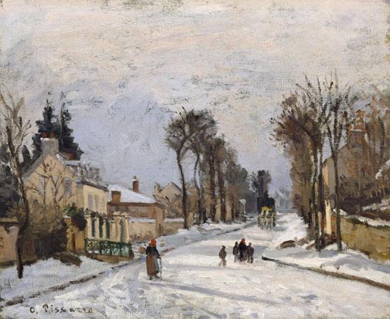 The Versailles Road at Louveciennes, Camille Pisarro(28X34)