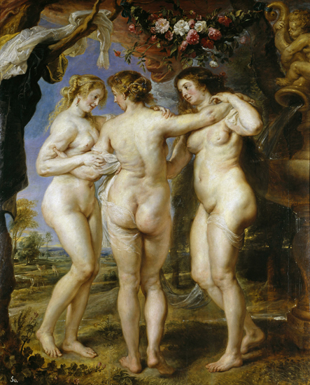 The Three Graces, Rubens (27.4X34)