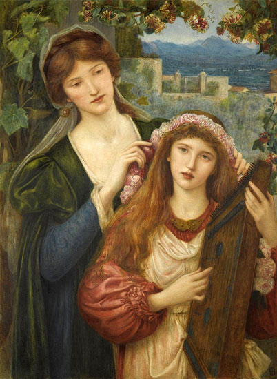 The Childhood of Saint Cecily, Marie Spartali Stillman