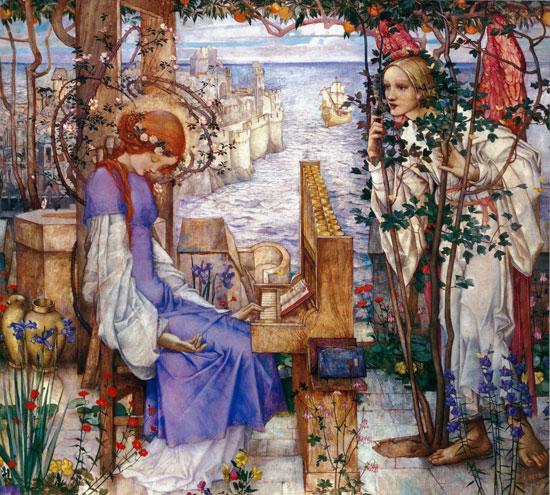 Saint Cecily, Edward Reginald Frampton (20X22)