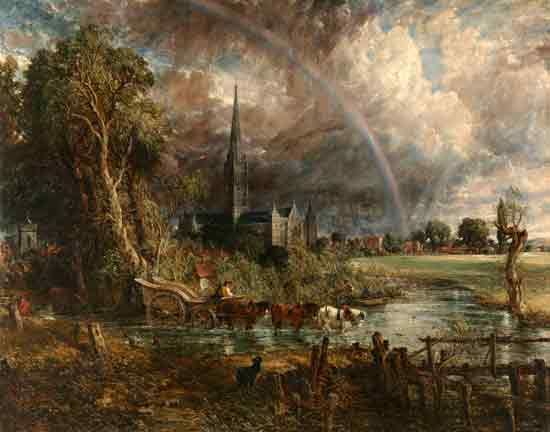 Salisbury Cathedral, John Constable (22X28)