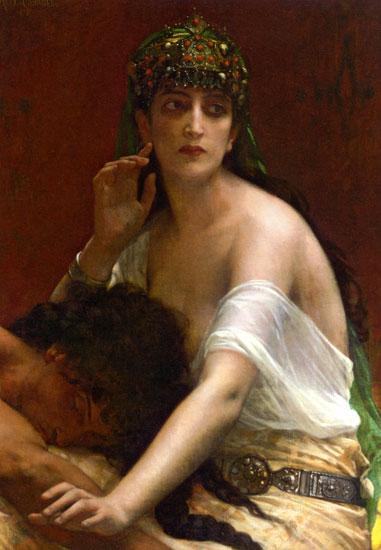 Samson and Delilah, Alexandre Cabanel (16X27.5)