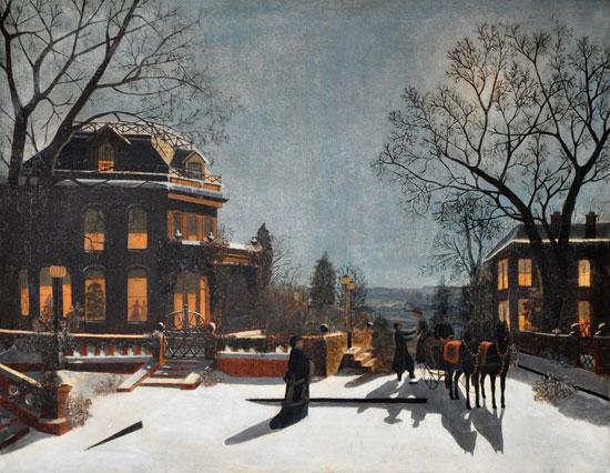 Christmas Eve on the Hudson, Samuel Carr
