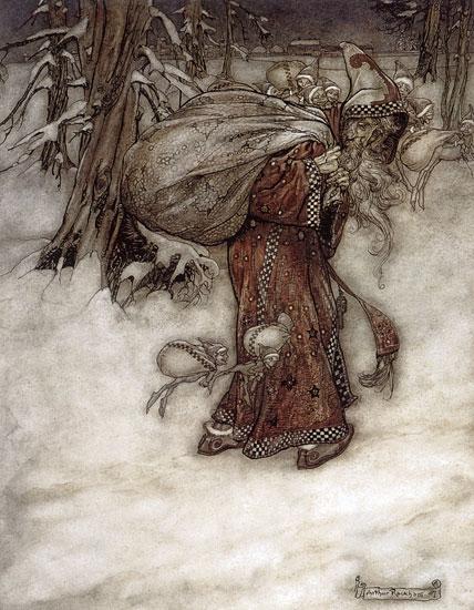Santa Claus, Arthur  Rackham (14X18)