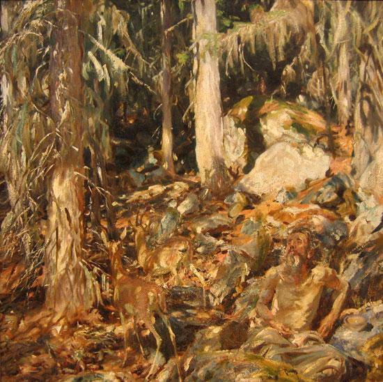The Hermit, John Singer Sargent (21x22)