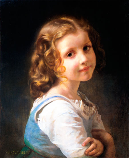 Schoolgirl, William-Adolphe Bouguereau (18x22)