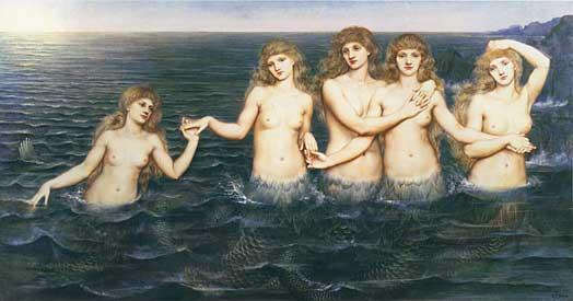 Sea Maidens, deMorgan (18X34)