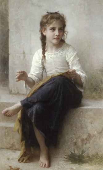 Sewing, William Bouguereau
