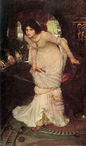 Lady of Shallot -1894, Waterhouse (16X27)